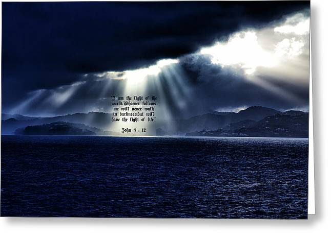 Light Of The World Greeting Card by Dennis Baswell