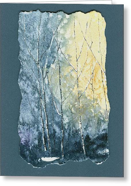 Light On Bare Trees 1 Greeting Card
