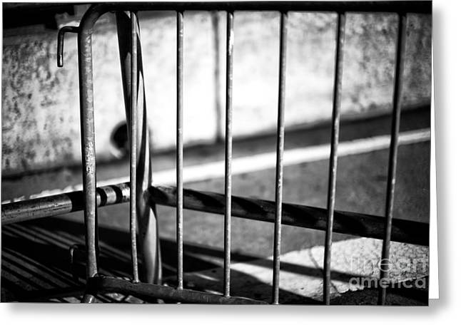 Light On The Barrier Greeting Card by John Rizzuto