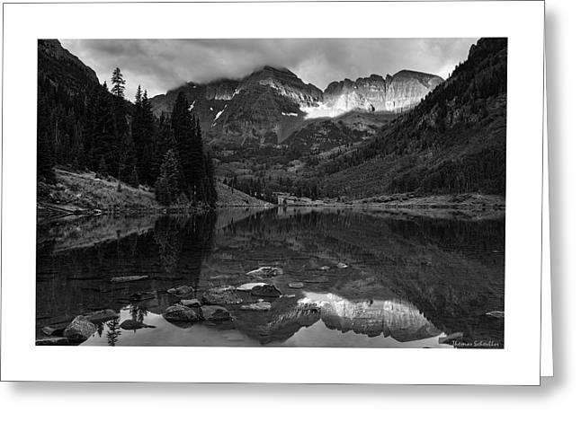 Light On The Mountains Greeting Card by Thomas Schoeller