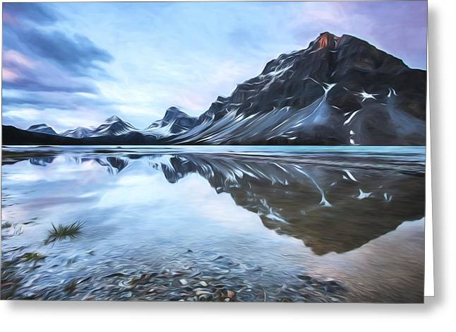light on the peak II Greeting Card by Jon Glaser