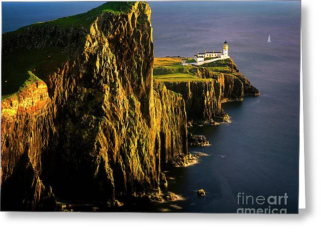 Light On The Rock Greeting Card