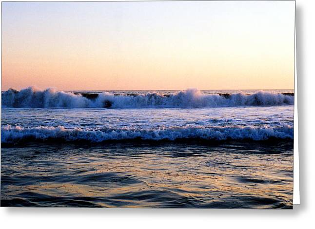 Greeting Card featuring the photograph Light On The Wave Tops 4 by Lyle Crump