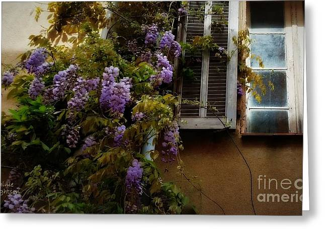 Light On The Window Greeting Card by Lainie Wrightson
