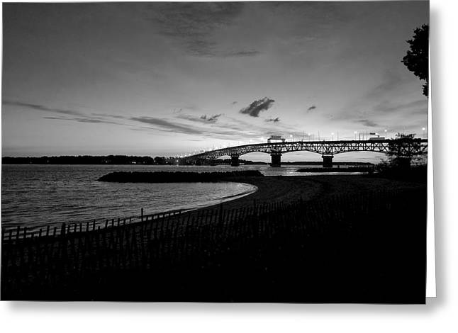 Light Over Bridge Greeting Card