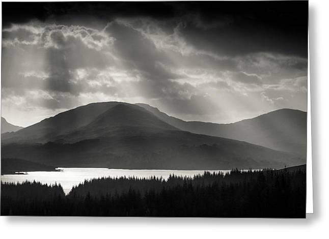 Light Over Loch Tulla Greeting Card by Dave Bowman