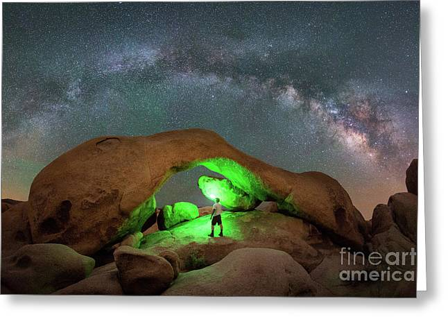 Light Painting Arch Rock Greeting Card