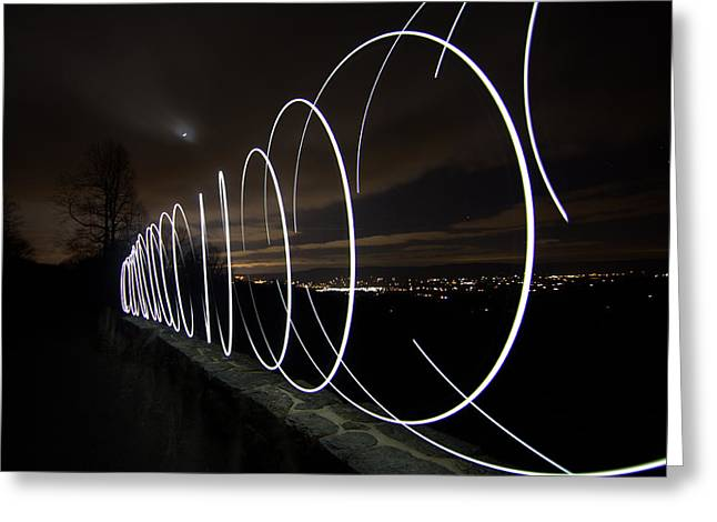 Light Painting In Snp Greeting Card by Shannon Louder