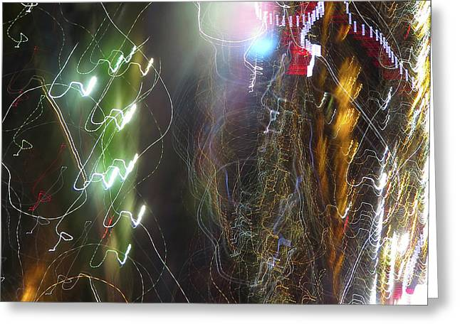 Light Painting - No 3a - Tesla's Workshop Greeting Card
