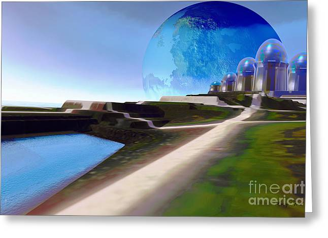 Light Path Greeting Card by Corey Ford