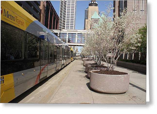 Greeting Card featuring the photograph Light Rail by Ron Read
