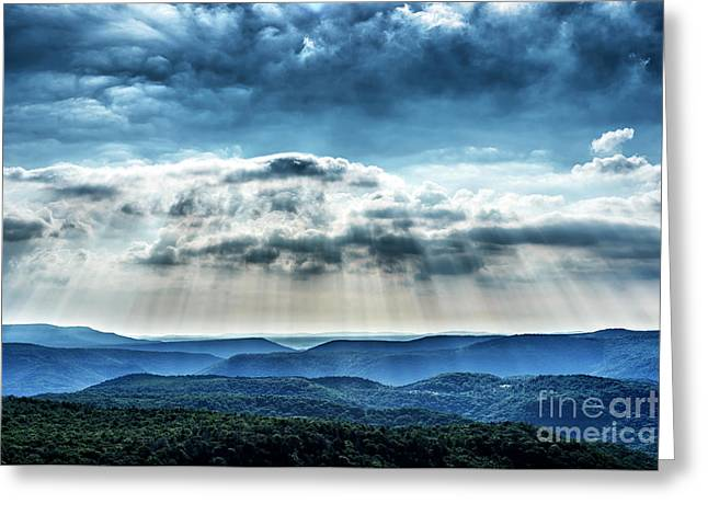 Greeting Card featuring the photograph Light Rains Down by Thomas R Fletcher