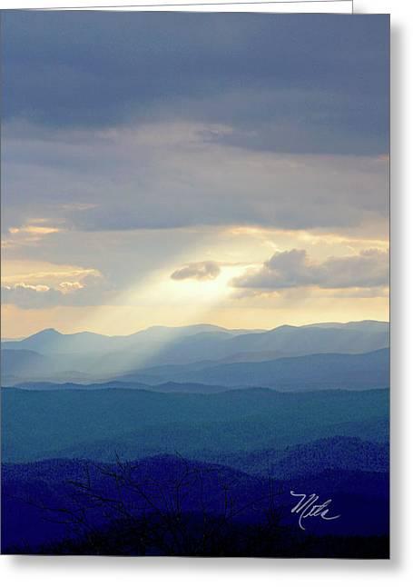 Light Ray Sunset Greeting Card by Meta Gatschenberger