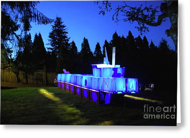 Greeting Card featuring the photograph Light Sculpture by Bill Thomson