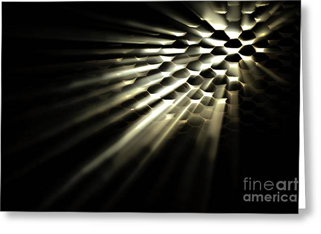 Light Shining Through Holes Greeting Card