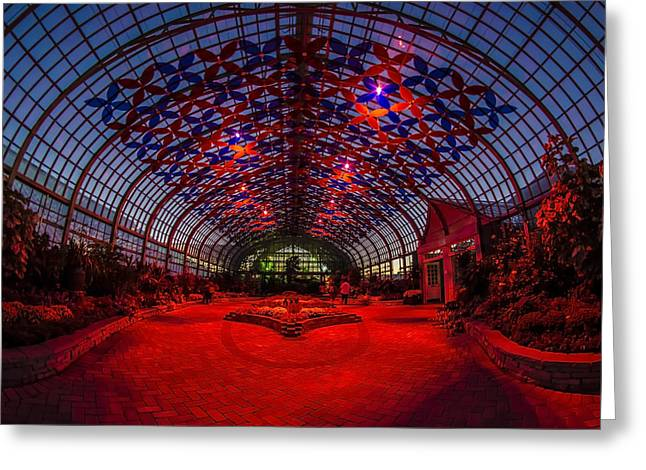 Light Show At The Conservatory Greeting Card by Sven Brogren