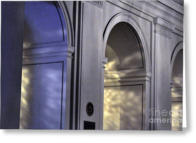 Light Splattered Arches Greeting Card by Clayton Bruster