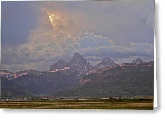 Light Storm Greeting Card by Eric Tressler