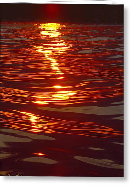Light Stream - Lake Geneva Wisconsin Greeting Card