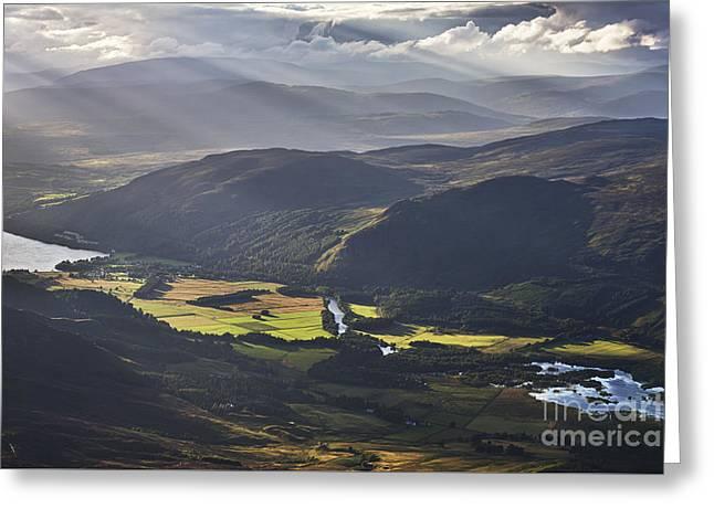 Light Streams, Kinloch Rannoch Greeting Card by Rod McLean
