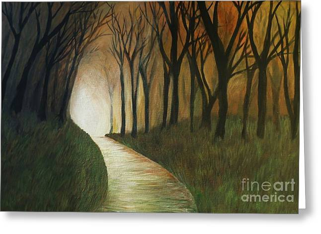 Greeting Card featuring the painting Light The Path by Christy Saunders Church