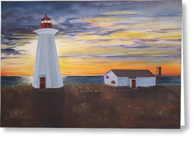 Greeting Card featuring the painting Light The Way by Diane Daigle