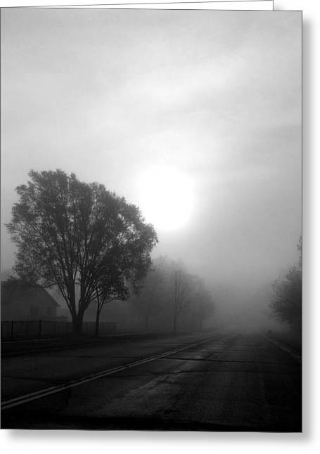Light Through A Fog Greeting Card