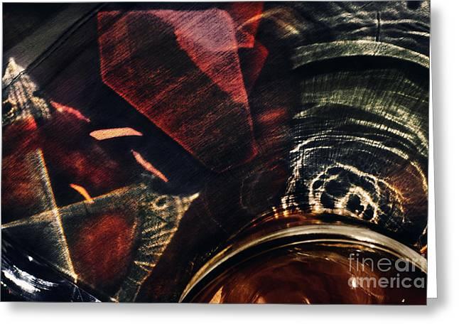 Light Through Glass Greeting Card by Elena Lir-Rachkovskaya