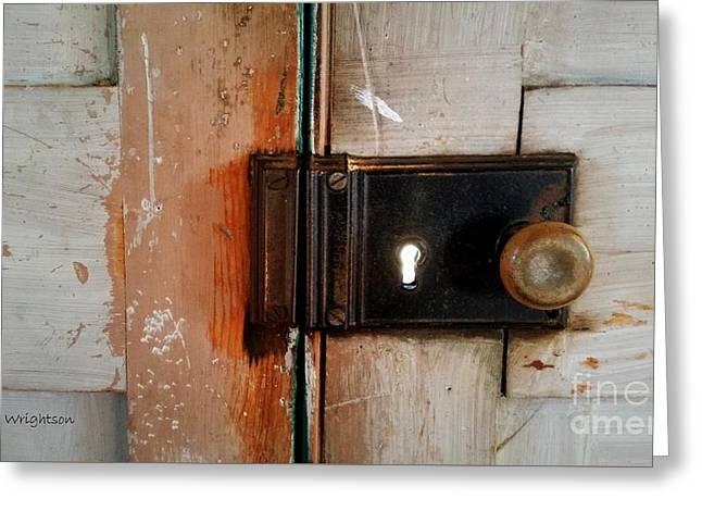 Light Through The Keyhole Greeting Card