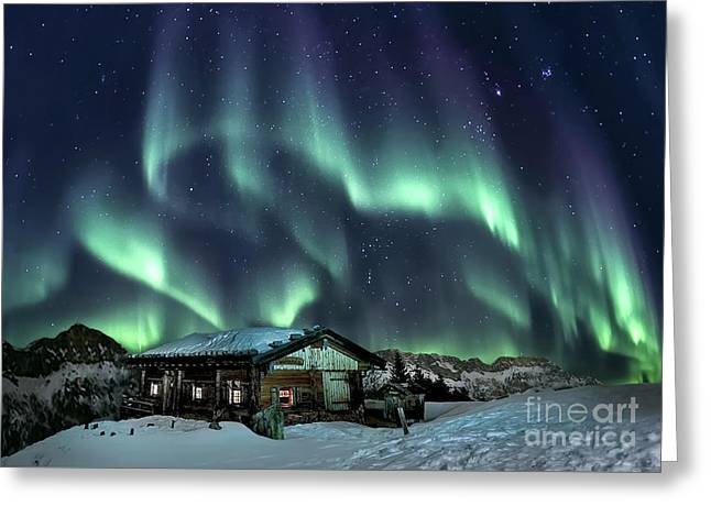 Light Through The Night Greeting Card by Evelina Kremsdorf