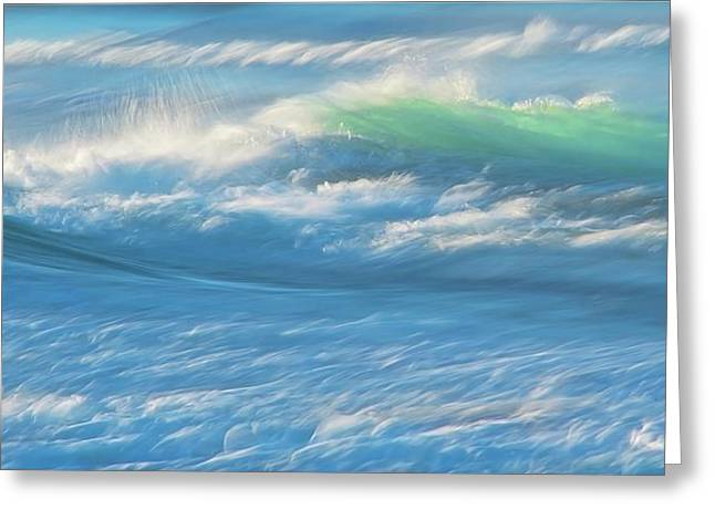Light Wave At Asilomar, Pacific Grove, California Greeting Card