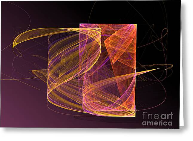 Lightbox Greeting Card by Sandra Bauser Digital Art