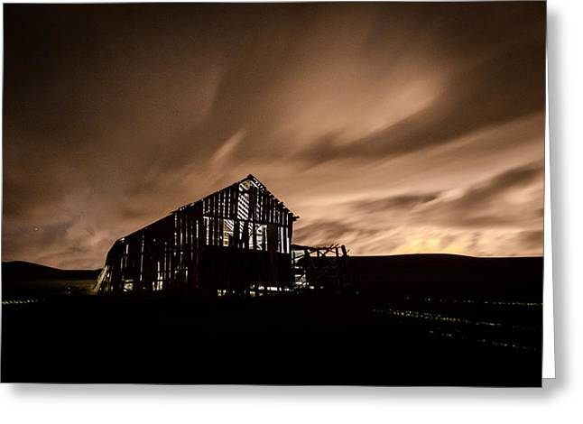 Lighted Barn Greeting Card