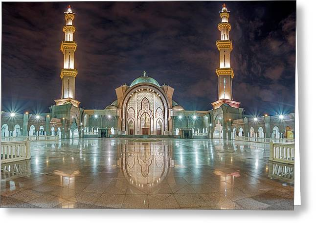 Lighted Federal Territory Mosque  Greeting Card