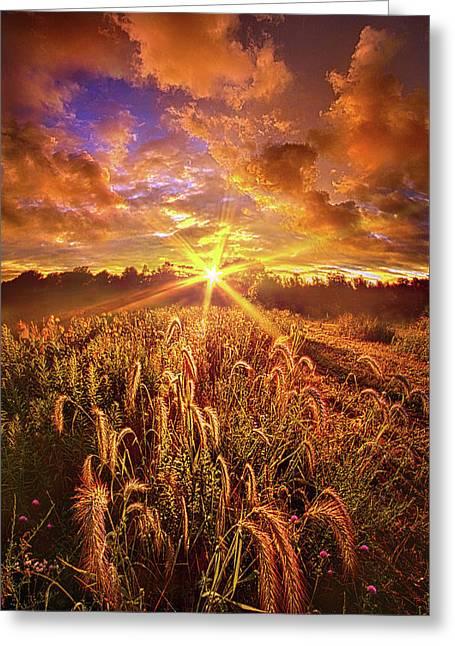 Lighten Our Darkness Greeting Card