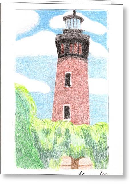 Greeting Card featuring the painting Lighthouse 4 by Rod Ismay
