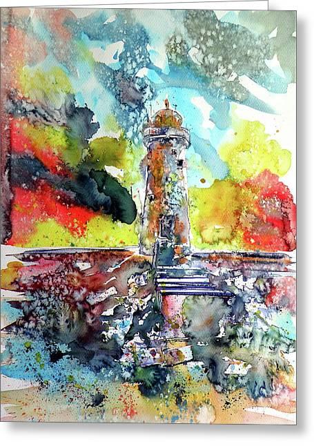 Lighthouse After Storm Greeting Card by Kovacs Anna Brigitta