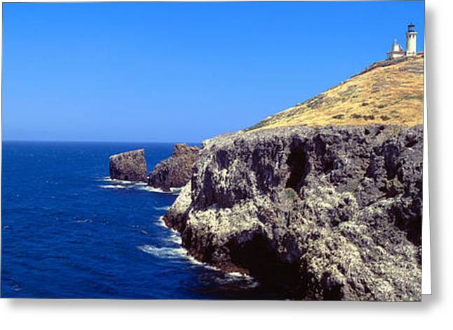 Lighthouse At Anacapa Island, Channel Greeting Card by Panoramic Images
