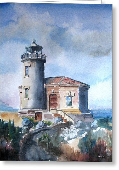 Lighthouse At Bandon Greeting Card