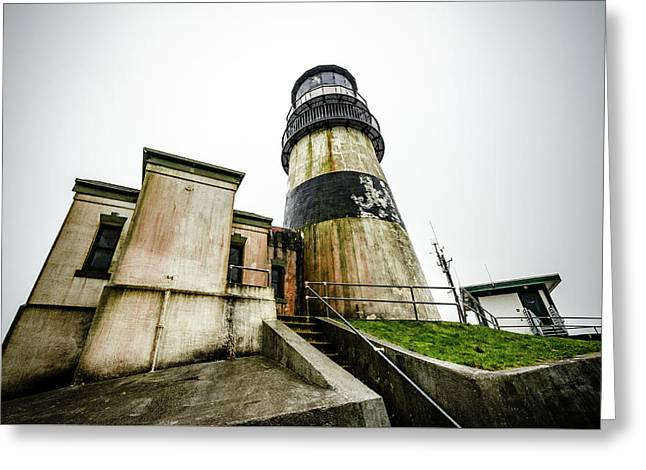 Lighthouse At Cape Disappointment Greeting Card by Anthony Doudt
