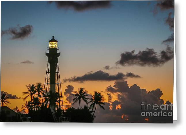 Lighthouse At Dawn #1 Greeting Card