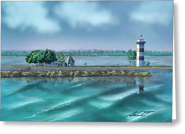 Lighthouse At Lake Conroe Greeting Card