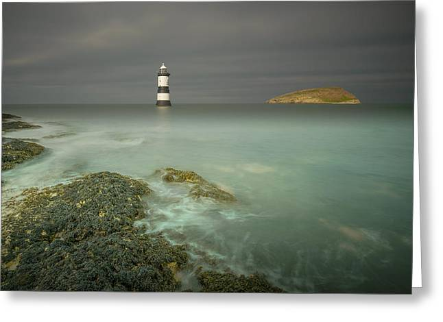 Lighthouse At Penmon Point Greeting Card by Andy Astbury