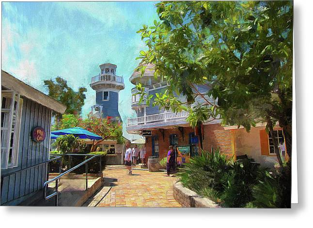 Lighthouse At Seaport Village Greeting Card