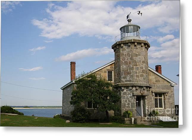 Lighthouse At Stonington Ct Greeting Card