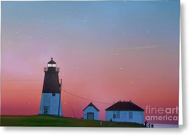 Lighthouse At Sunrise Greeting Card by Juli Scalzi