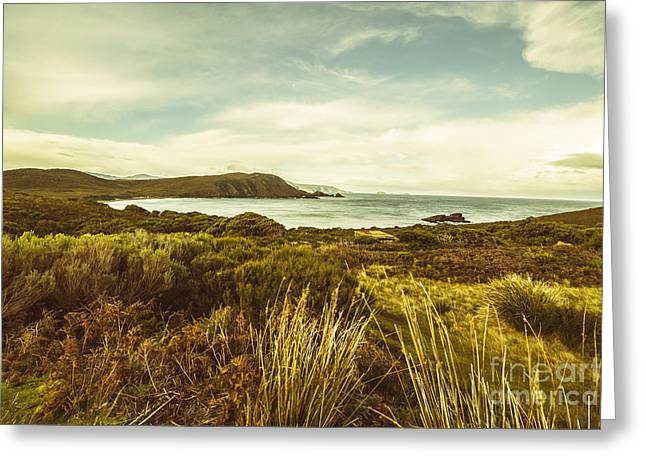 Lighthouse Bay Beach Bruny Island Greeting Card by Jorgo Photography - Wall Art Gallery