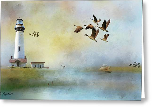 Lighthouse Bay Greeting Card