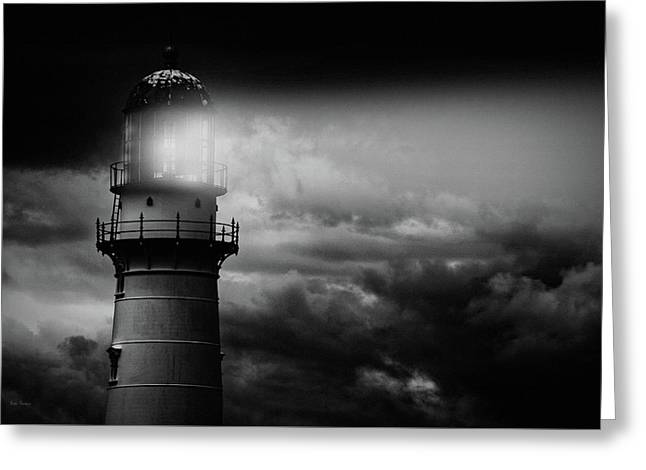 Lighthouse Greeting Card by Bob Orsillo