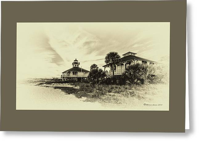Lighthouse Boca Grande Greeting Card by Marvin Spates